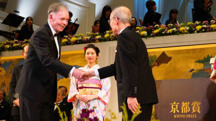 Dr Graham Farquhar is the first Australian to win a Kyoto Prize. Image: Courtesy of the Inamori Foundation