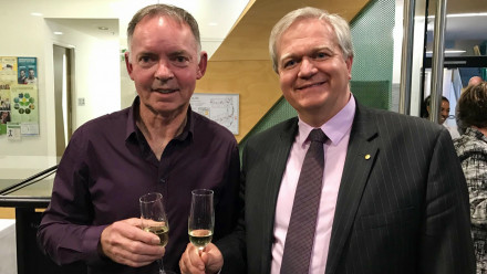 Distinguished Professor Graham Farquhar and Professor Brian Schmidt