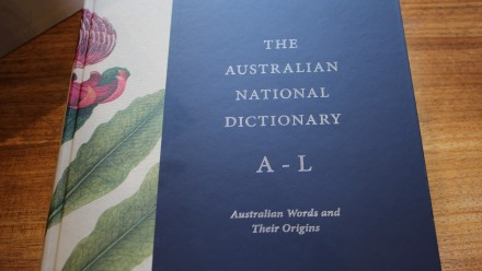 The second edition of The Australian National Dictionary. Photo: Aaron Walker, ANU.