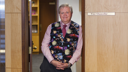 Professor Brian Schmidt in his new astronomy vest