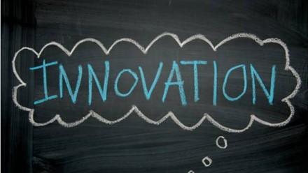 Innovation written on blackboard. Image courtesy Missy Schmidt on flickr.