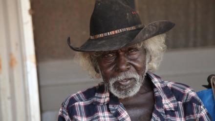 Jacob Nayinggul, Indigenous Elder from the Gunbalanya region in Ahnem Land.