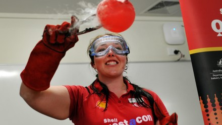 Jesse Jorgensen-Price was part of the 2014 Shell Questacon Science Circus.