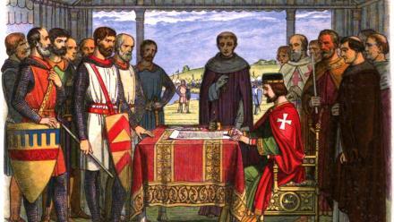 King John signed the original Magna Carta in 1215.