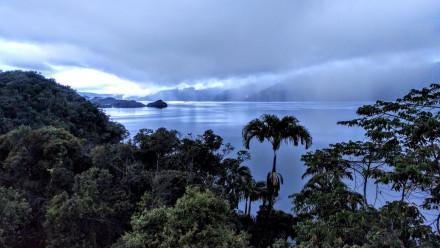 View over Lake Kutubu in Papua New Guinea.