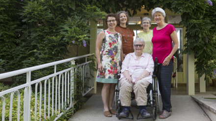 Team members from the ANU. Left to right: Dr Jane Desborough, Associate Professor Christine Phillips, Katrina Chisholm, Dr Anne Parkinson and Vanessa Fanning.
