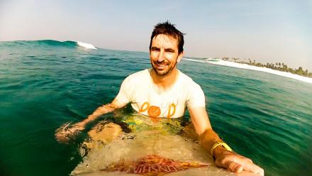 Dr Nicholas Taylor on paddleboard