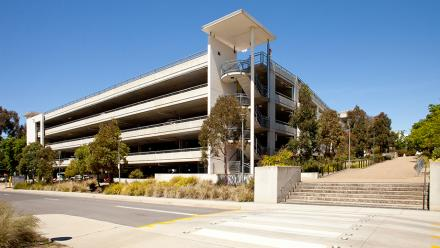 Baldessin precinct multi-level carpark.
