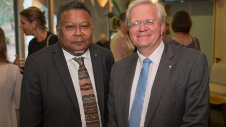 Mr Peter Yu with ANU Vice-Chancellor Professor Brian Schmidt