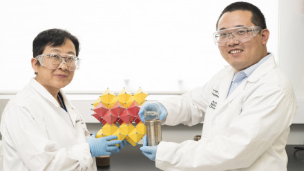 Professor Yun Liu and PhD student Qingbo Sun