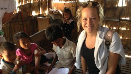 Engineering student Rebecca Watts in Cambodia.