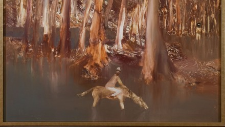Image: Part of Sidney Nolan's Riverbend which is on display at the Drill Hall Gallery (c) Sidney Nolan Trust/Bridgeman Images