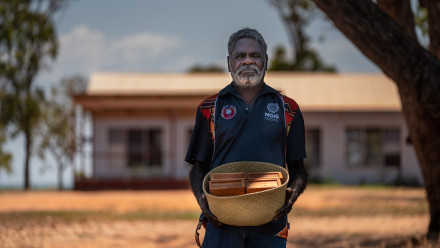 Ross Mandi Wunungmurra describes the return of the blood samples as historic. Photo: Jamie Kidston