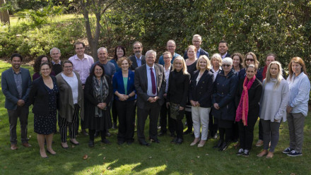 Stakeholders from across the campus who have worked together to submit the University's SAGE application to receive the bronze accreditation. Photo by Lannon Harley, ANU.