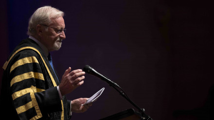 Chancellor Professor The Hon Gareth Evans AC QC. Photo by Lannon Harley, ANU.