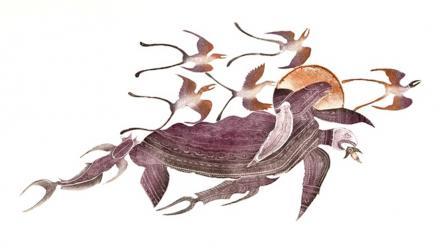 Saulal by Dennis Nona won the 27th Telstra National Aboriginal and Torres Strait Art Award. Dennis Nona/Aboriginal Art Network.