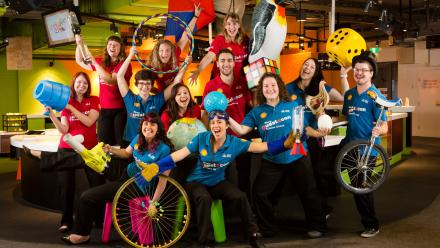 ANU students from the Shell Questacon Science Circus
