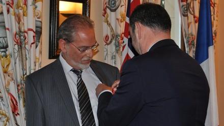 Professor Serge Tcherkezoff and Ambassador of France to Australia, H.E. Christophe Lecourtier. Image: Supplied.