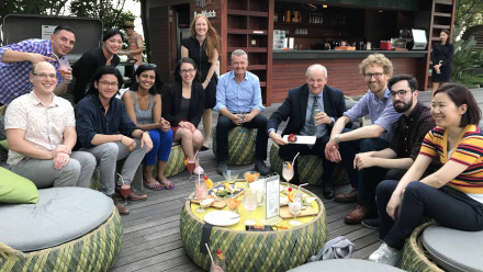 Six Higher Degree by Research students travelled with ANU staff to Singapore in late September. Image: supplied.