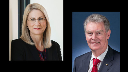 Dr Heather Smith (left) and Major General Duncan Lewis have joined the National Security College. Image: Anya Wotton/ANU