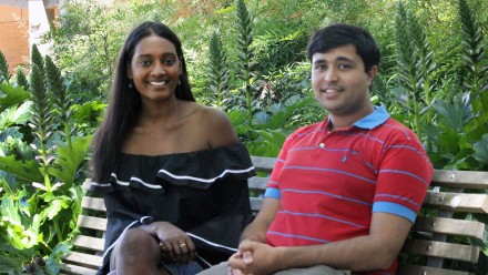 ANU College of Law students Prashant Kelshiker and Sonali Fernando
