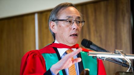 Professor Steven Chu received an Honorary Doctorate from ANU.