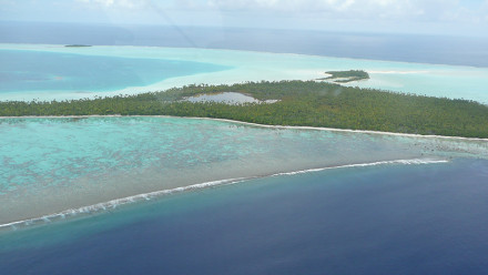Aerial of Teti'aroa, French Polynesia. Image: Dr Guillaume Molle