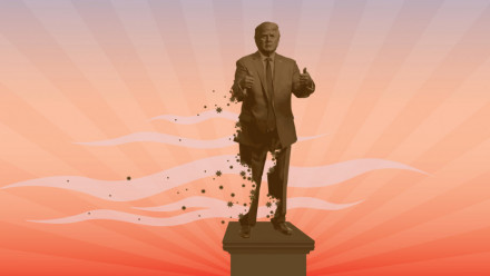 President Donald Trump has been impeached twice, which is unprecedented. Image credit: Anya Wotton, ANU