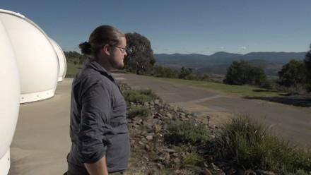 Dr Brad Tucker at ANU Mt Stromlo observatory. Credit Jamie Kidston