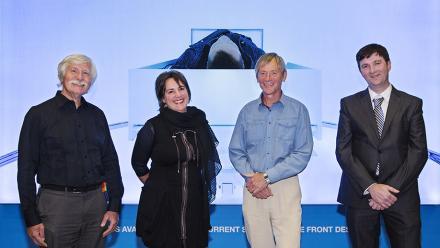 Professor Hans Bachor, Lucina Ward, Professor Trevor Lamb and Dr Mark Edwards. Image: David Paterson.
