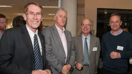 Vice-Chancellor Professor Ian Young, CEO of Geosciences Australia Dr Chris Pigram, Professor Brian Kennett and Professor Malcolm Sambridge. Image: Daniel Cummins