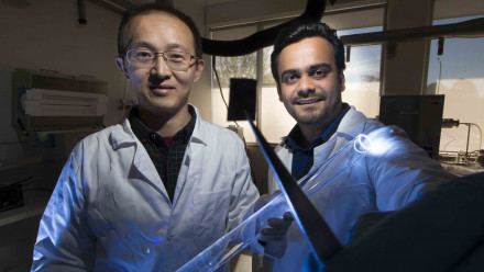 Associate Professor Larry Lu and Dr Ankur Sharma. Image: Jack Fox, ANU
