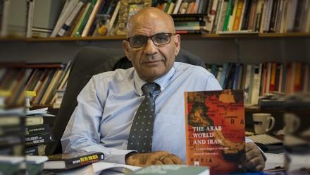 Distinguished Professor Amin Saikal. Photo by Stuart Hay, ANU.