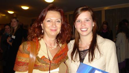 Antonella with prize winner Jessica Pink