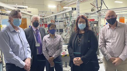 Professor Andrew Stuchbery, Professor Brian Schmidt, Professor Nanda Dasgupta, Minister Melissa Price and Professor Greg Lane.