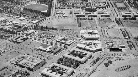 Canberra Civic Centre, 1958. Image: ArchivesACT, flickr