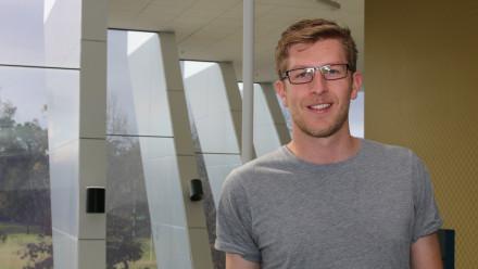 Elizabeth Greene Scholarship recipient Mr Grant Brown. (Photo by Yen Eriksen)