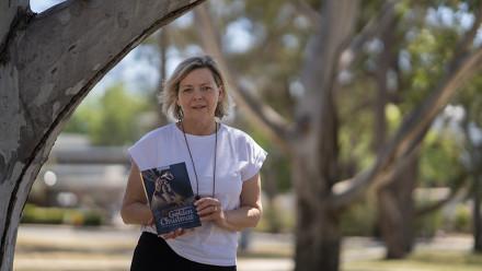 Dr Karen Downing, co-curator of the book. Image Benjamin Keough ANU.
