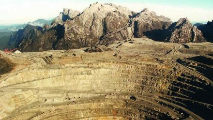 Grasberg copper-gold-silver porphyry deposit, Papua, Indonesia. Image: Kurt Friehauf.