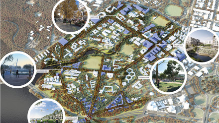 An artist's impression of the Campus Master Plan.