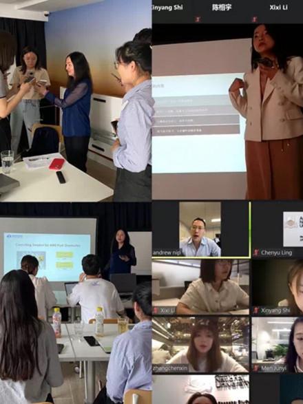 Students in Shanghai Study Hub with tutors