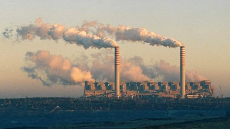 Photo of coal fueled power station