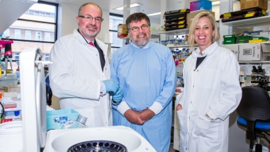 Professor Ross Hannan, inaugural Centenary Chair in Cancer Research, Professor Simon Foote, Director of The John Curtin School of Medical Research and ACT Chief Minister Katy Gallagher. Image: Stuart Hay.