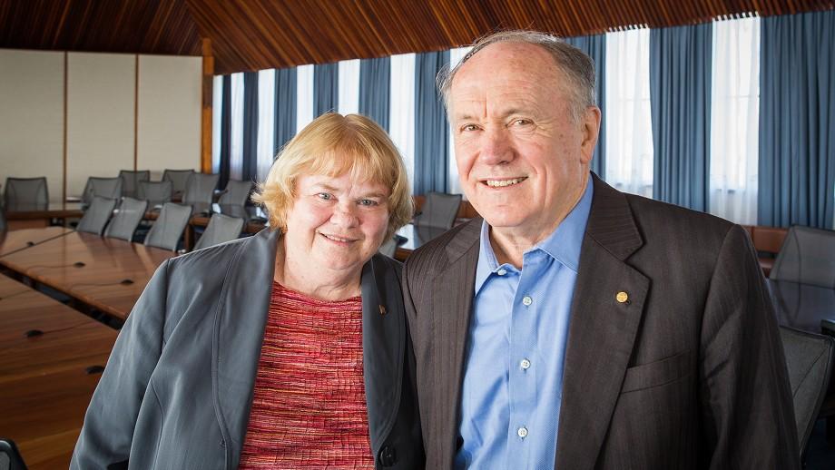 Professor Barbara Spencer and Professor Edward Prescott.