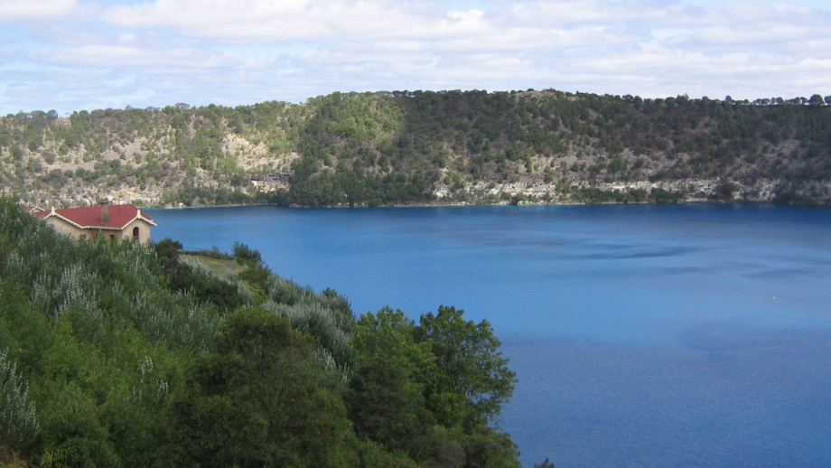 The Blue Lake in the dormant volcano at Mount Gambier