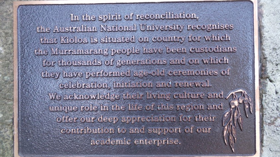 Kioloa commemorative plaque