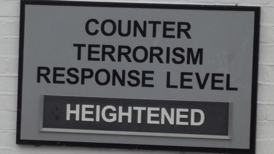 Counter terrorism response level hightened