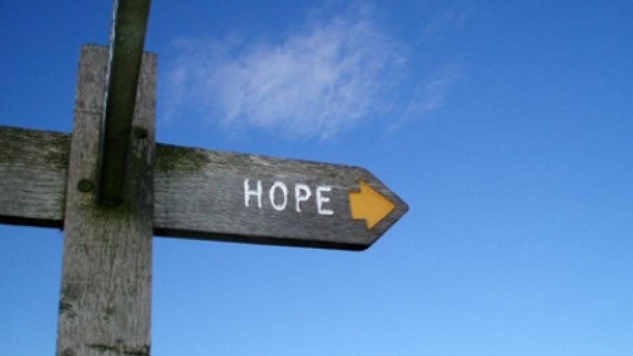 Signpost to Hope, Derbyshire, UK