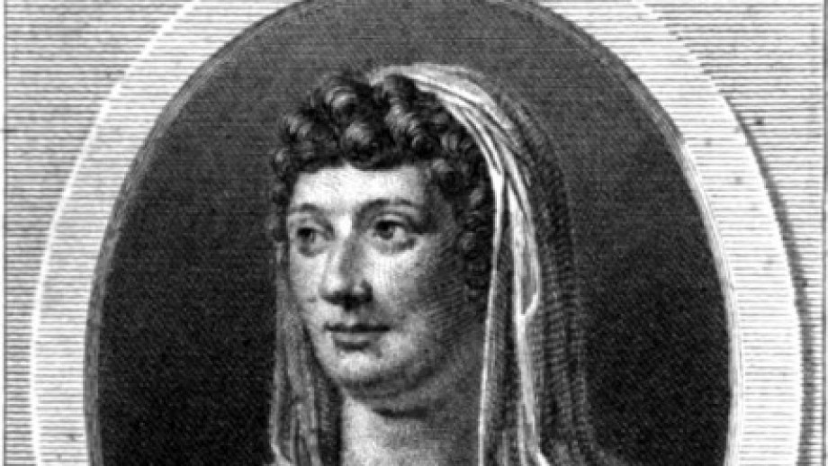 Illustrated portrait of Sophie Cottin