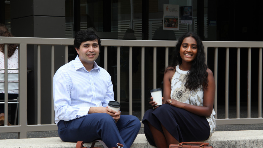 ANU Law students Sonali Fernando and Prashant Kelshiker